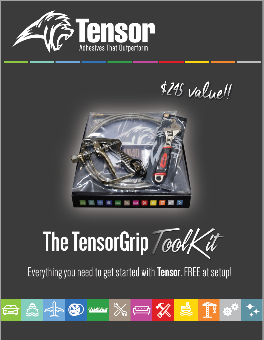 TensorGrip ToolKit Brochure - download to see how easy it is to set up with canister spray glue!