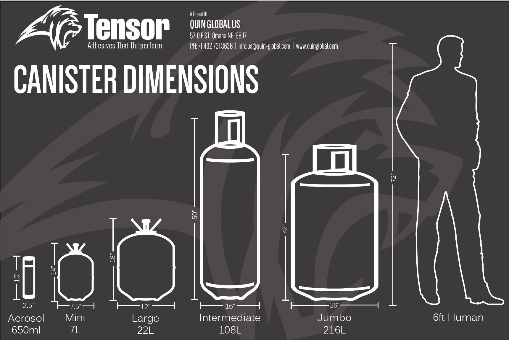 Tensor Canister Dimensions